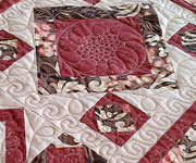 Rose and brown tablerunner