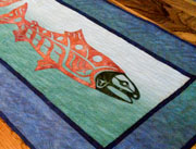 Salmon tablerunner form Quilt Alaska kit