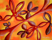 10 x 8 oil on canvas 'Adhesions in Bloom'