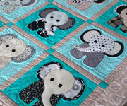 Baby Elephants Crib quilt