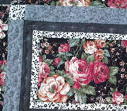 Four Grey Roses placemats