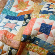Lucky Stars lap quilt
