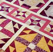 Row by Row lap quilt