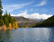 Autumn view of Tyaughton Lake, BC