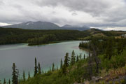 Gloomy day at Emerald Lake, Yukon