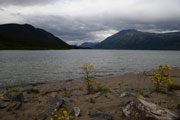 Threatening clouds at Bennett Lake, Carcross, Yukon