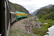 White Pass & Yukon Railway descending towards Skagway Alaska